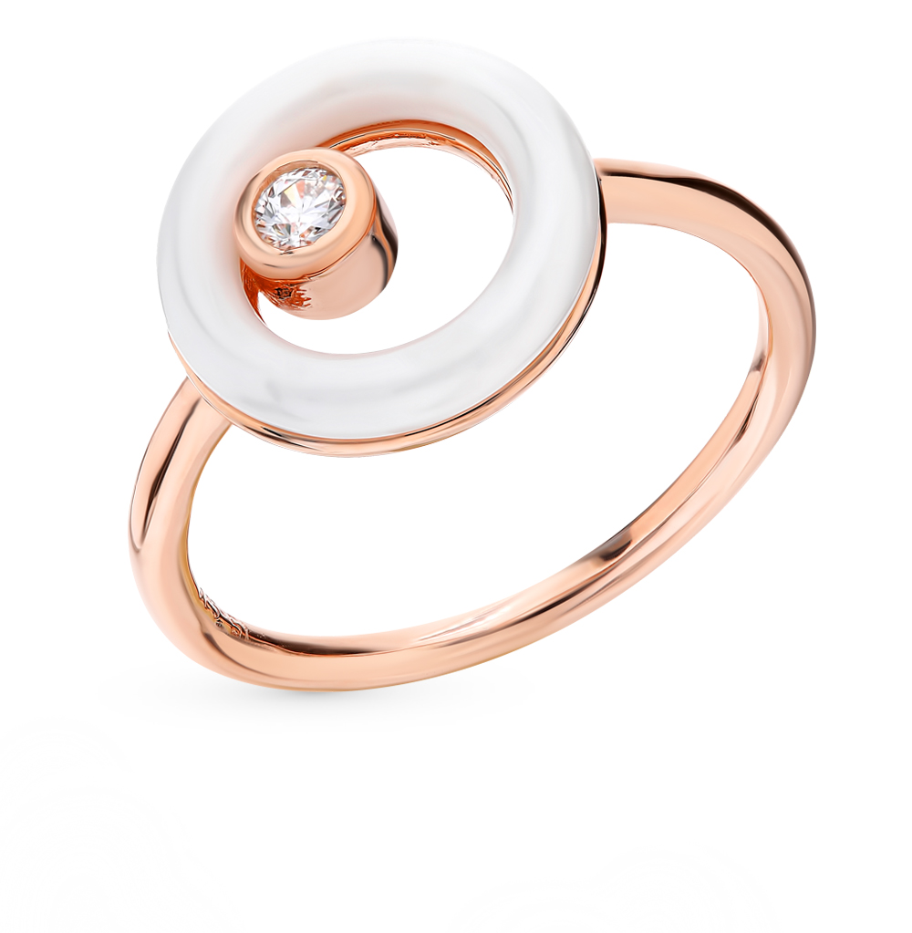 керамическое кольцо с кубическими циркониями