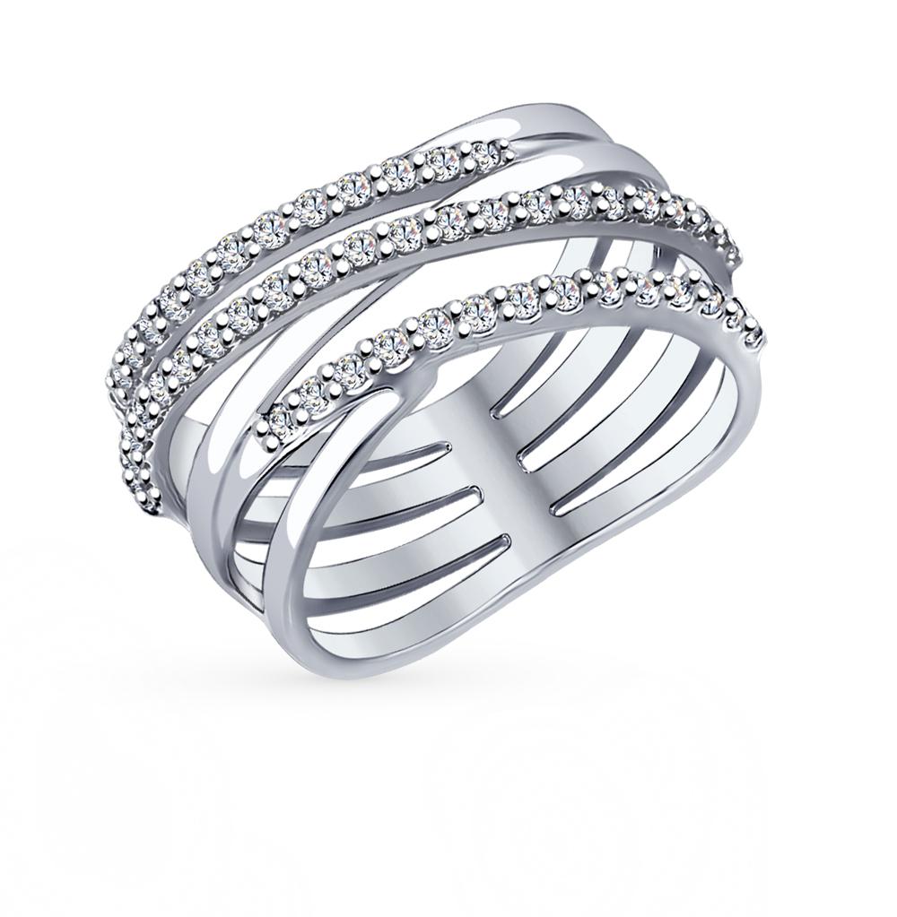 Фото «Серебряное кольцо с фианитами SOKOLOV 94012050»