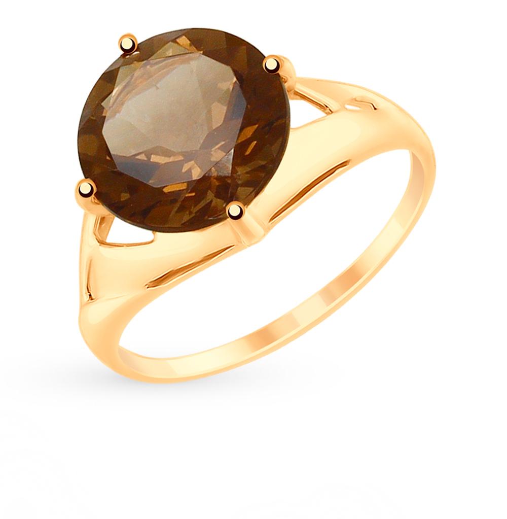 золотое кольцо с раухтопазами SOKOLOV 715139*