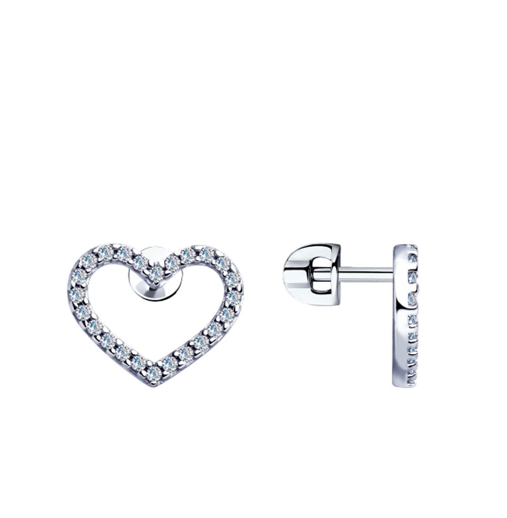 серебряные серьги с фианитами SOKOLOV 94023363