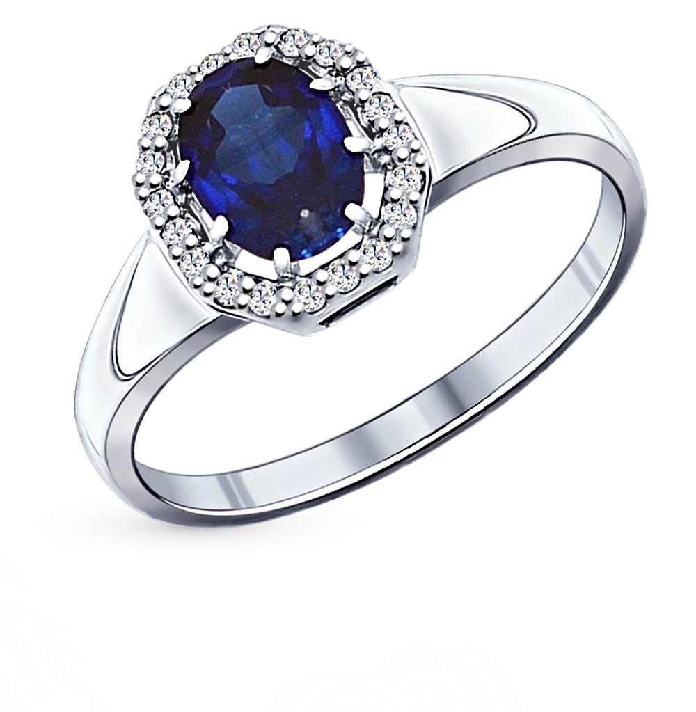 Фото «Серебряное кольцо с фианитами SOKOLOV 88010015»