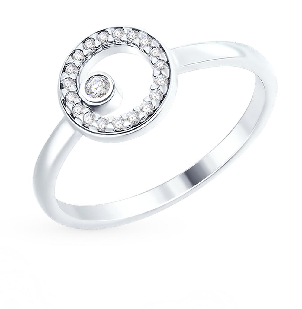серебряное кольцо с фианитами SOKOLOV 94012450
