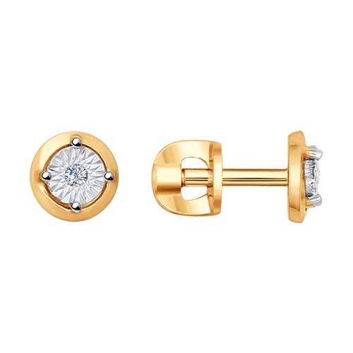 Фото «Золотые серьги с бриллиантами SOKOLOV 1020984»