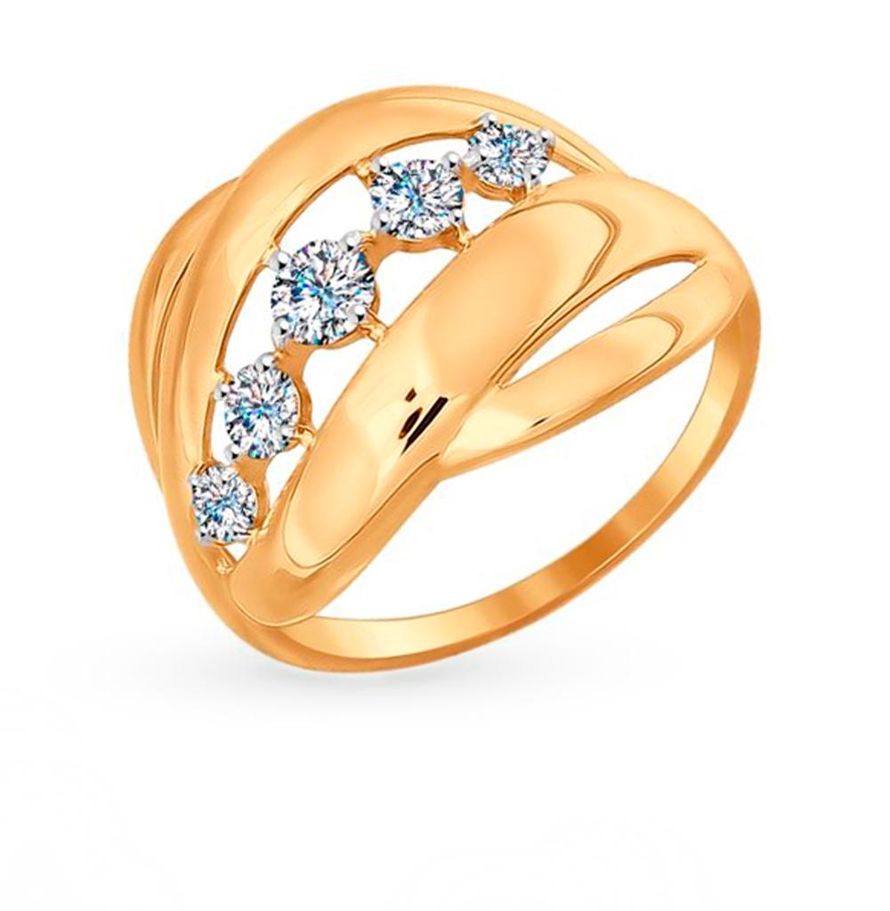 Фото «Золотое кольцо с фианитами SOKOLOV 017012»