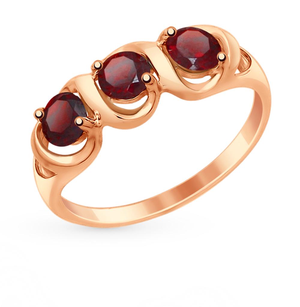Фото «Золотое кольцо с гранатом SOKOLOV 714863*»
