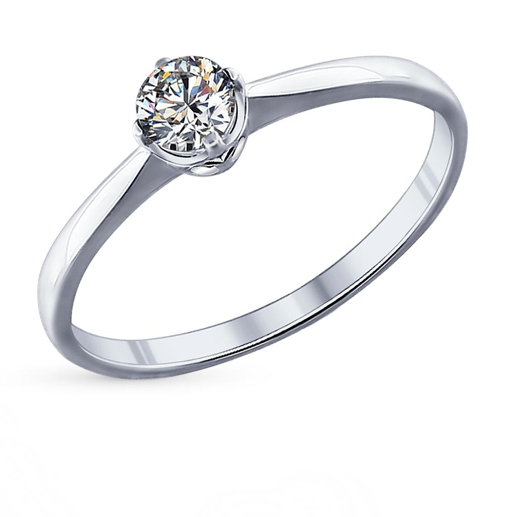 серебряное кольцо с фианитами SOKOLOV 89010023