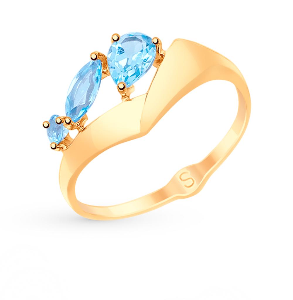 Золотое кольцо с топазами SOKOLOV 715117* в Екатеринбурге