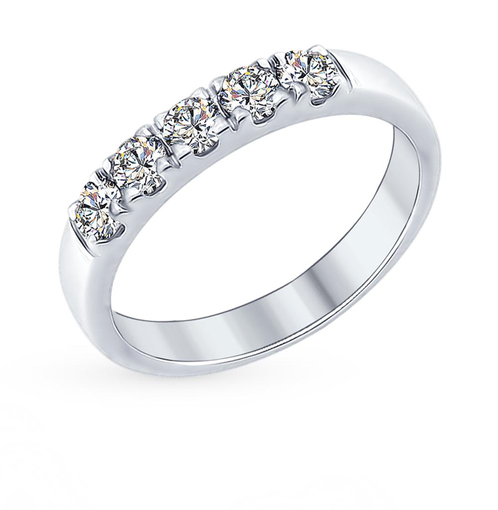серебряное кольцо с фианитами SOKOLOV 89010061