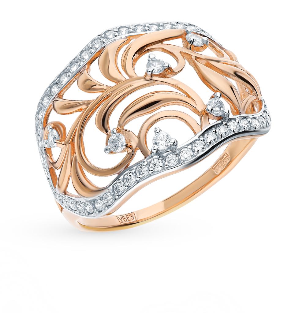 Золотое кольцо с фианитами SOKOLOV 017556* в Екатеринбурге