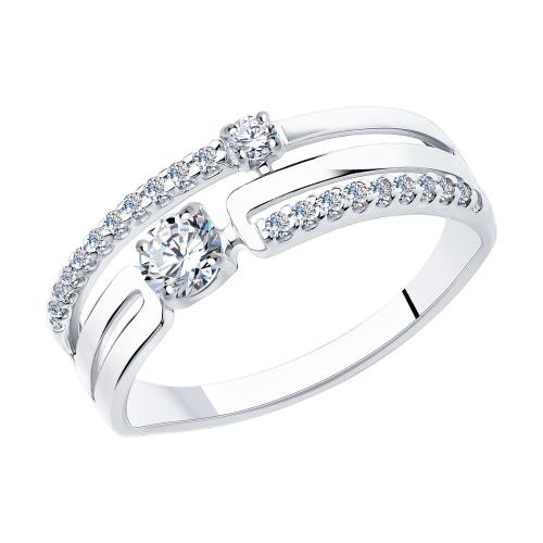 Фото «Серебряное кольцо с фианитами SOKOLOV 94013090»