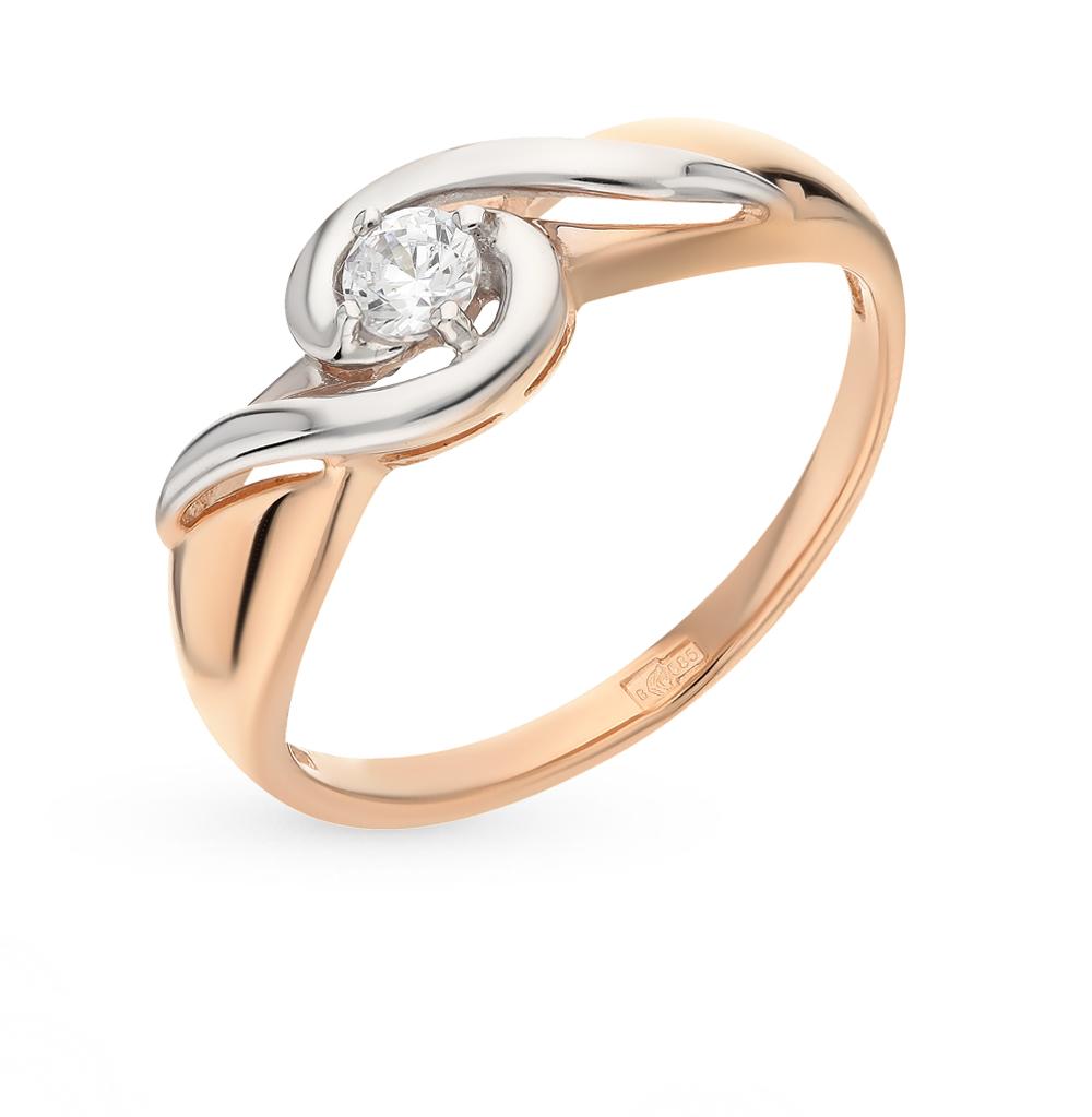 золотое кольцо с фианитами SOKOLOV 81010228*