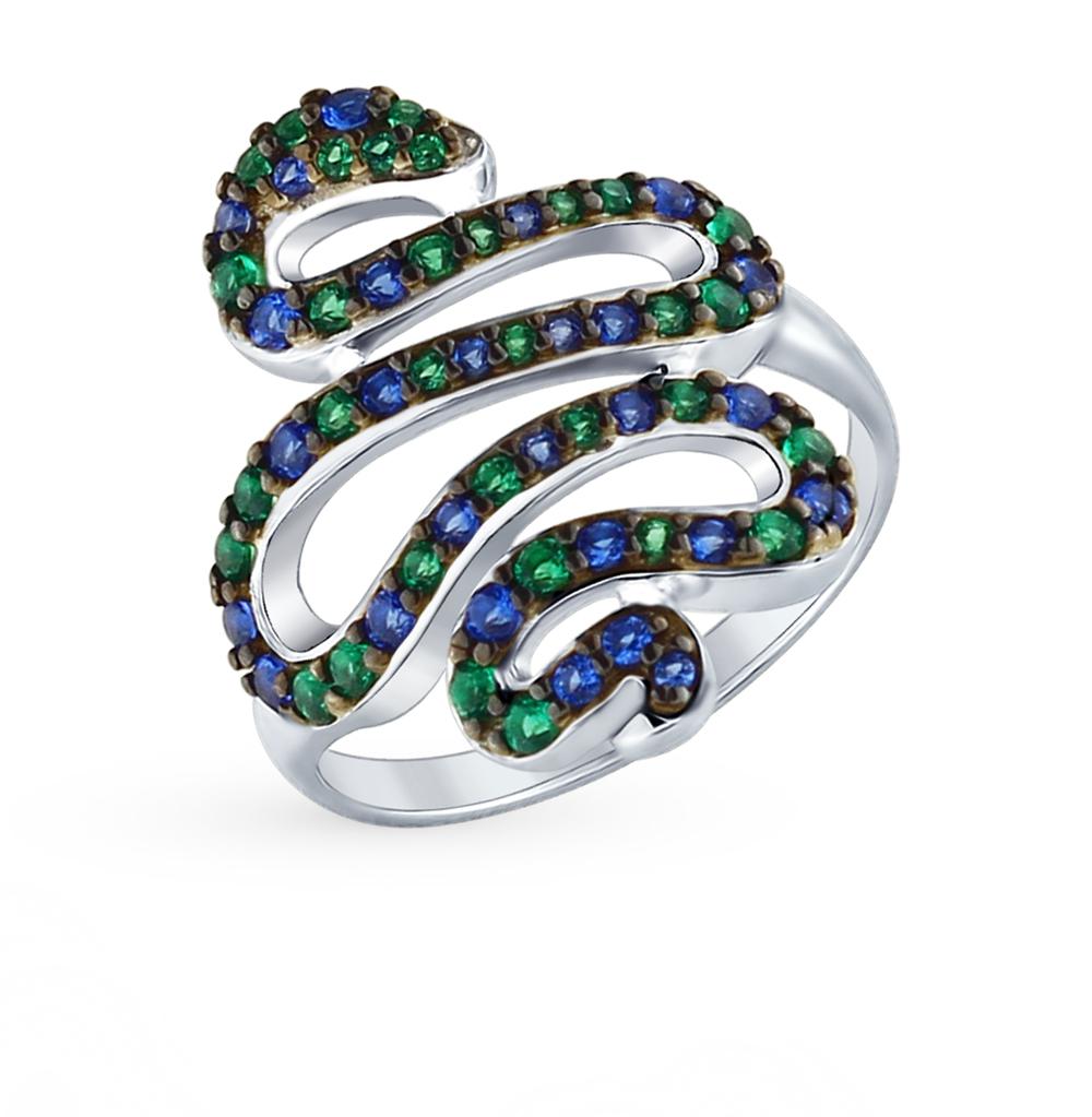 серебряное кольцо с фианитами SOKOLOV 94012586