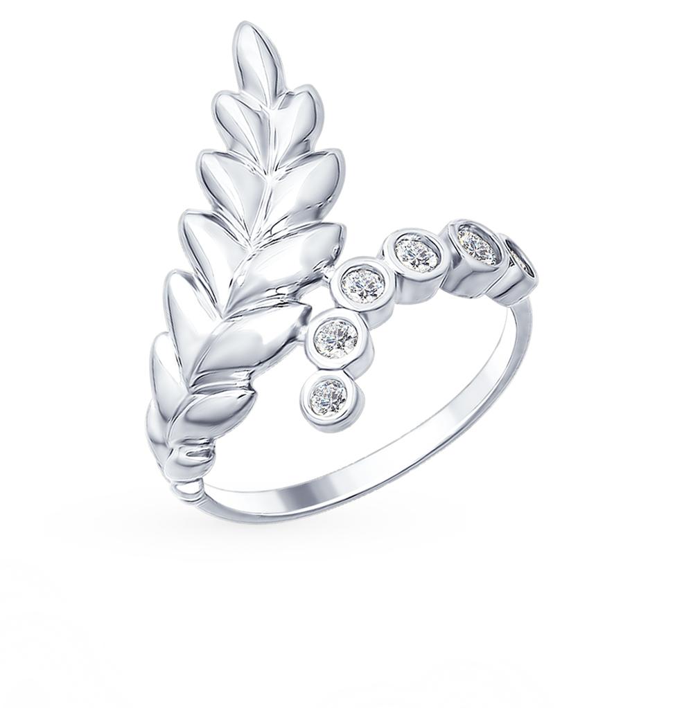 серебряное кольцо с фианитами SOKOLOV 94012480