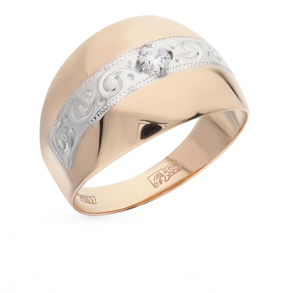 золотое кольцо с фианитами SOKOLOV 016694*