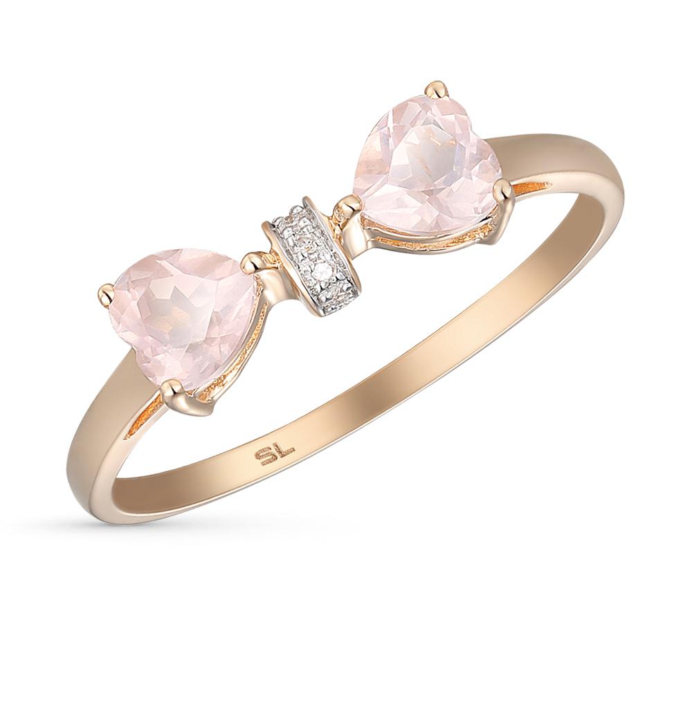 Фото «золото кольцо с кварцем и бриллиантами»