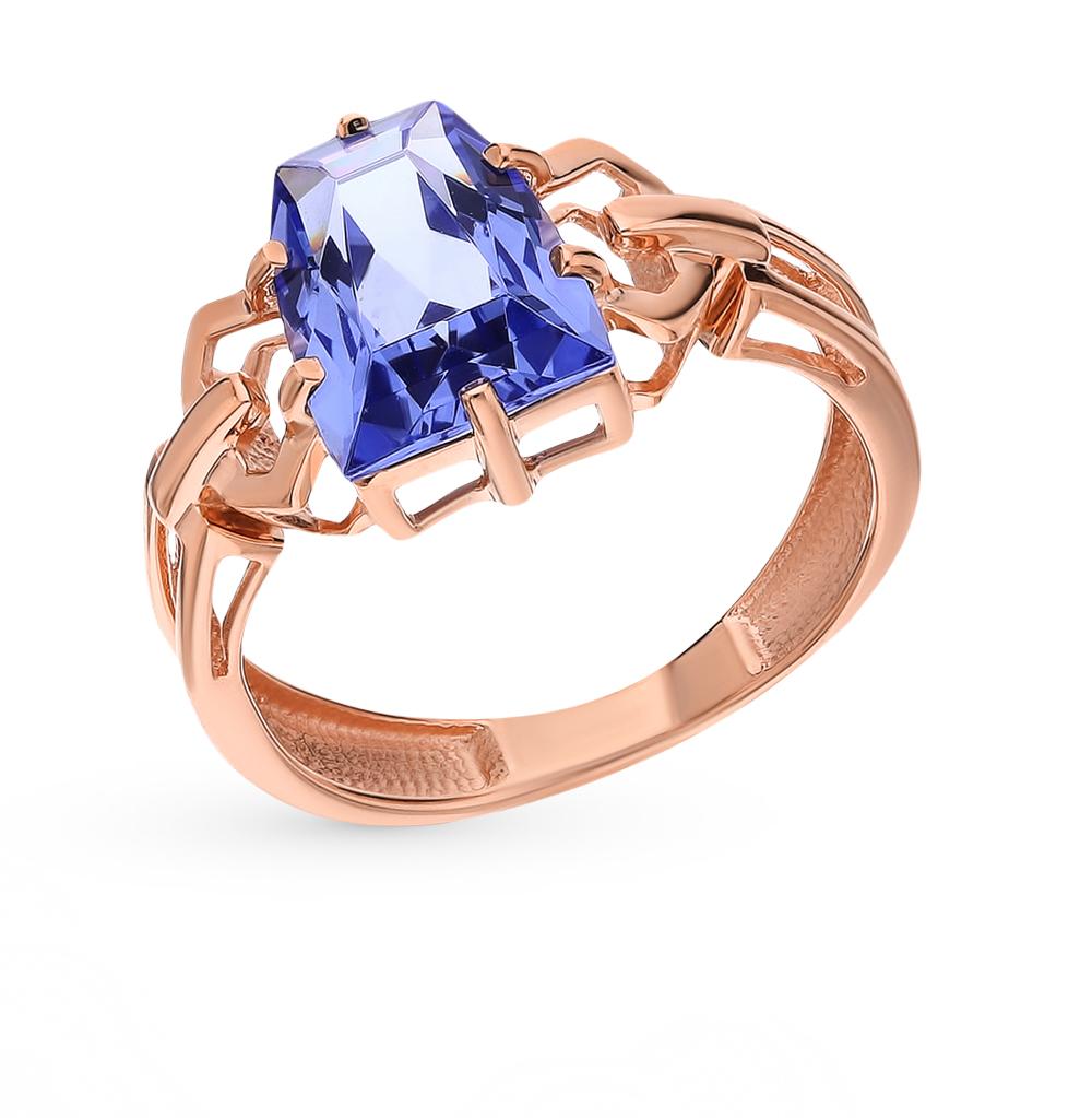 Золотое кольцо с танзанитом в Санкт-Петербурге