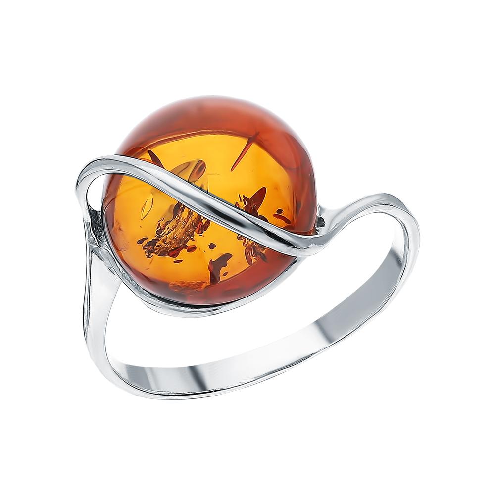 Серебряное кольцо с янтарем ЯНТАРНАЯ ЛАГУНА 2LP251: серебро, янтарь — купить в интернет-магазине SUNLIGHT, фото, артикул 149452