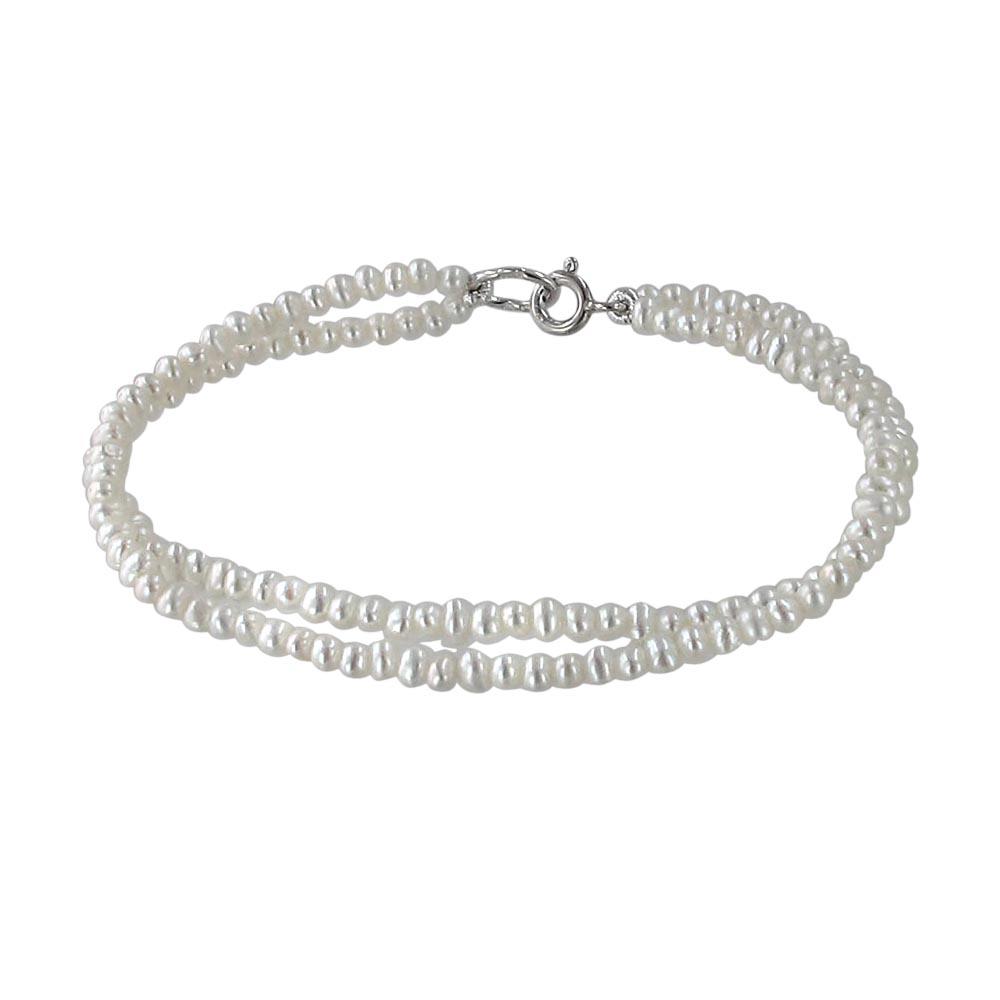 серебряный браслет с жемчугами культивированными