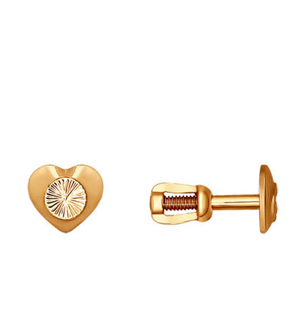 золотые серьги SOKOLOV 022373