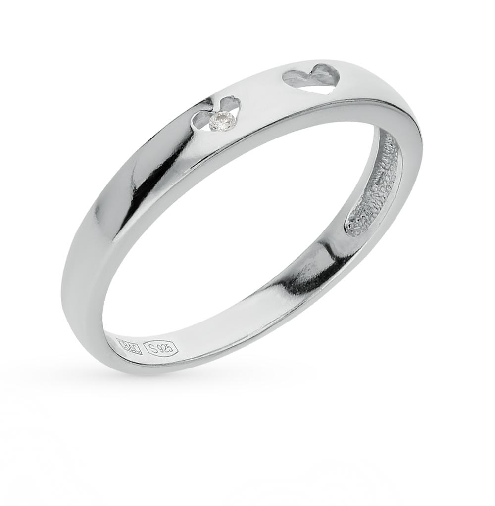серебряное кольцо с фианитами SOKOLOV 94011294