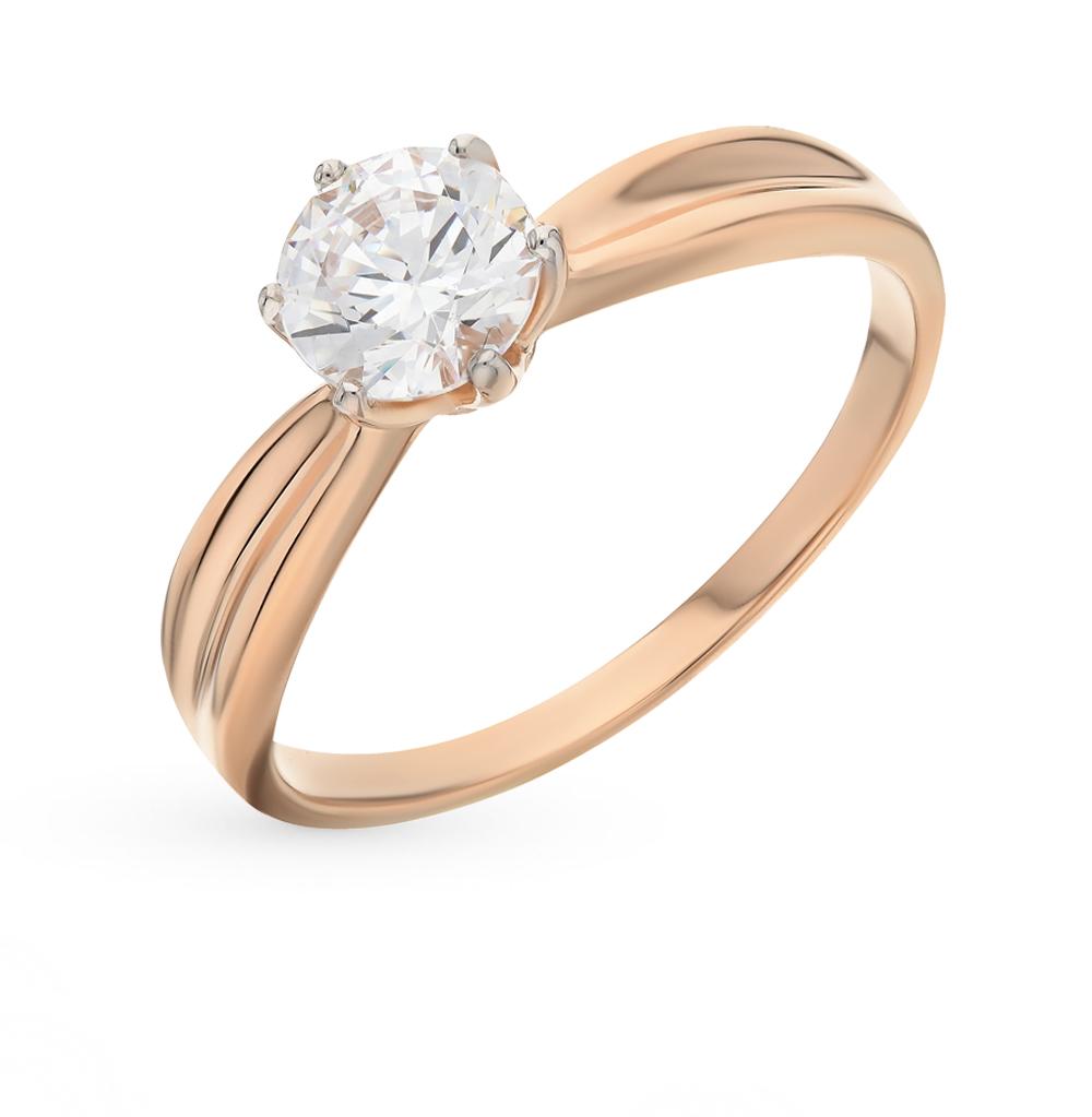 золотое кольцо с фианитами SOKOLOV 81010252*
