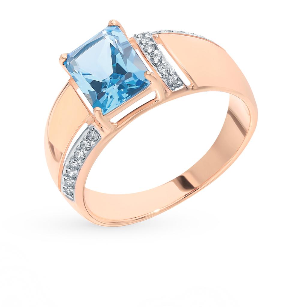 Золотое кольцо с топазом и фианитами SOKOLOV 714856* в Екатеринбурге