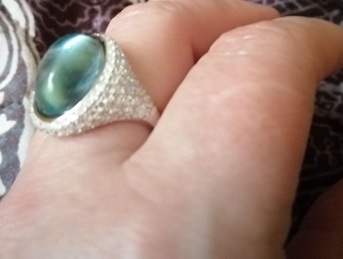 Кольцо с капелькой моря.