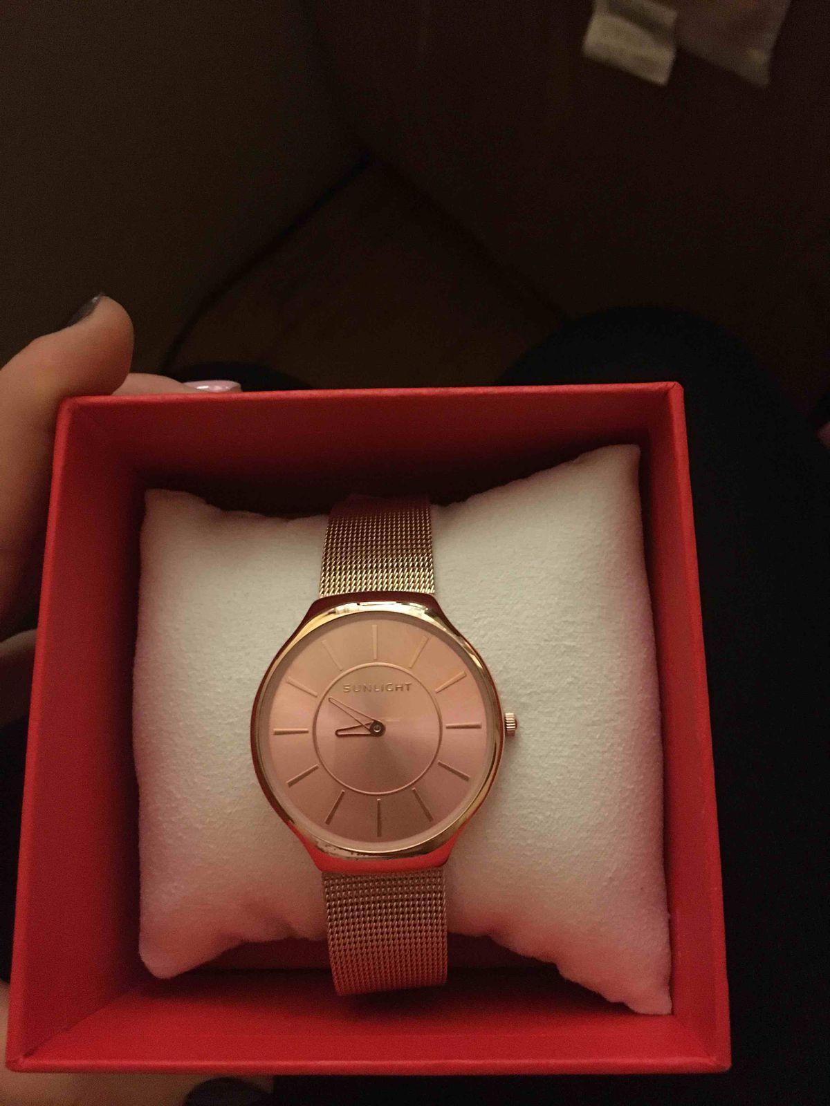 Часы,розовый циферблат, браслет,