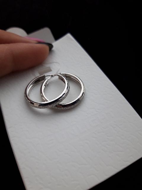 Серебряные серьги - кольца