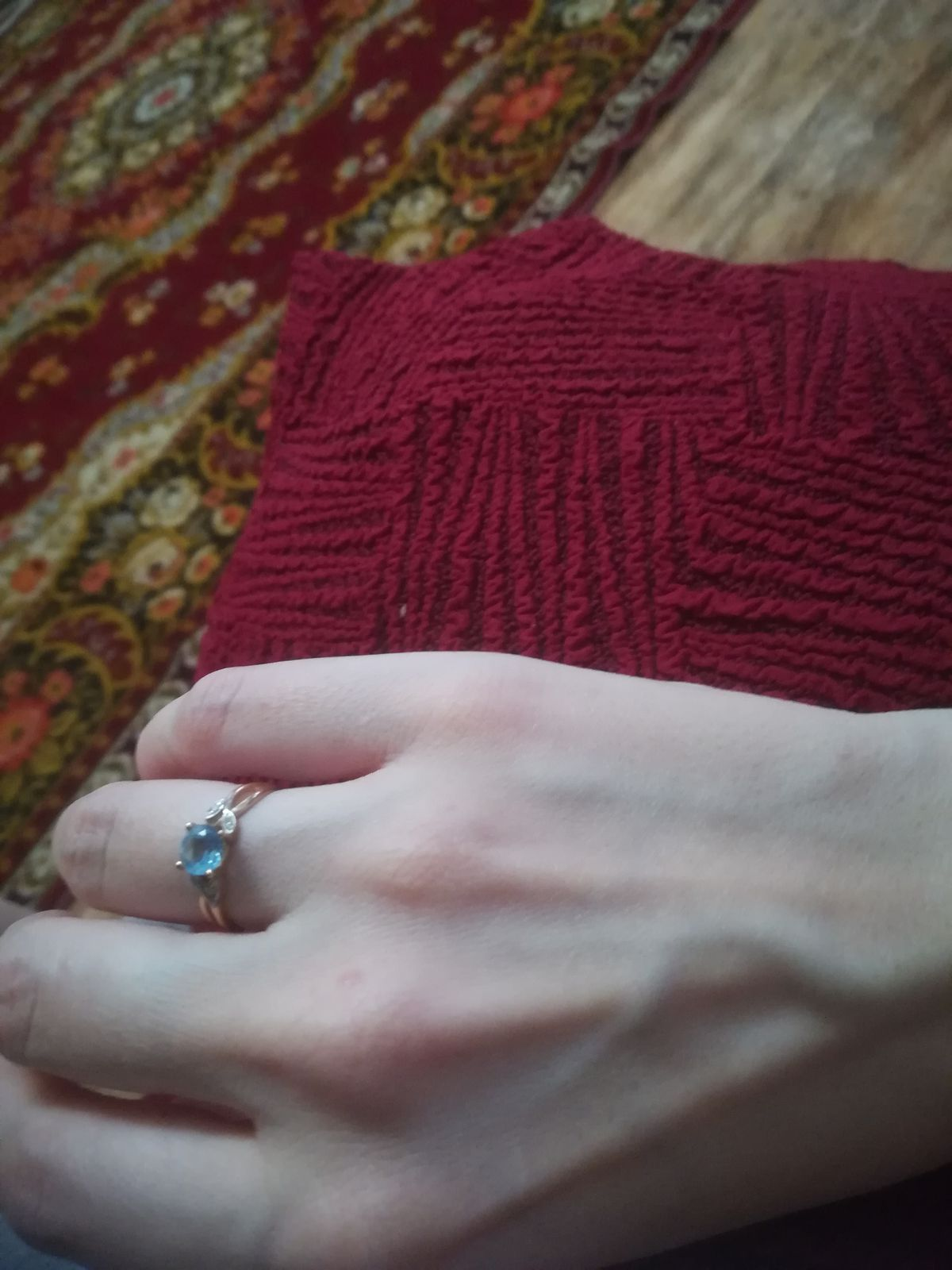 Кольцо очень нежное