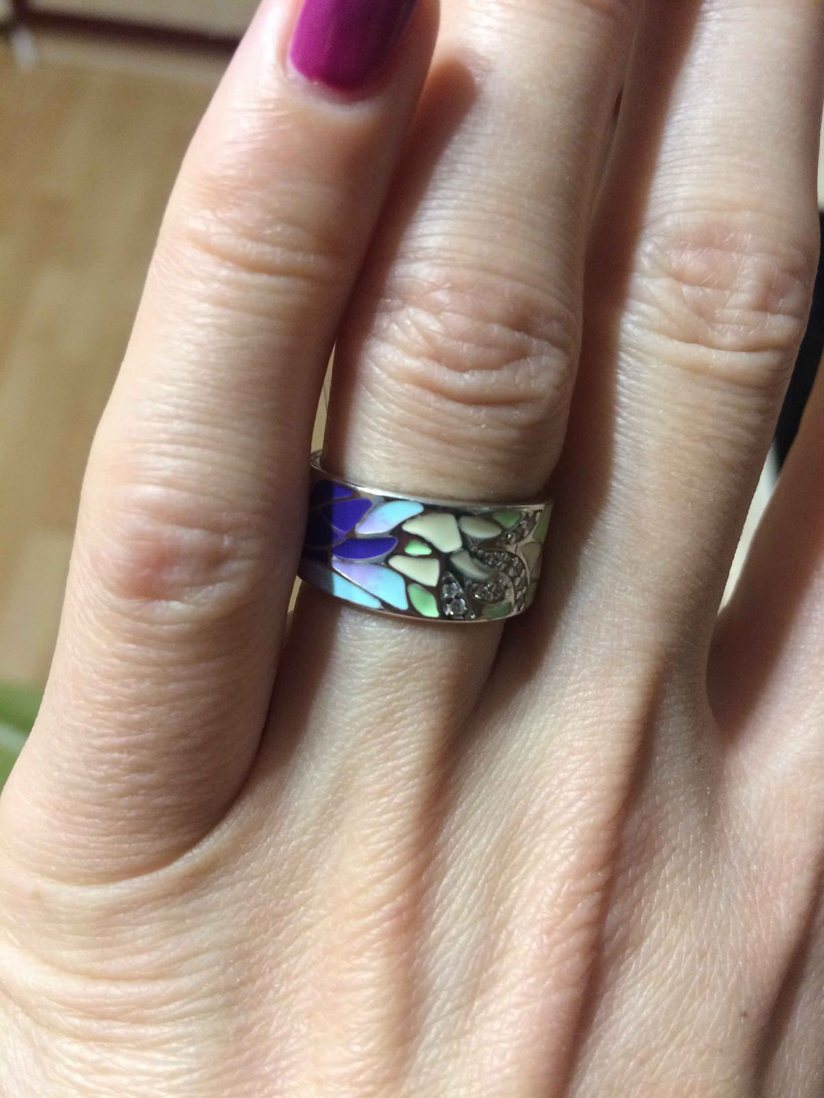 Кольцо с эмалью от Соколова