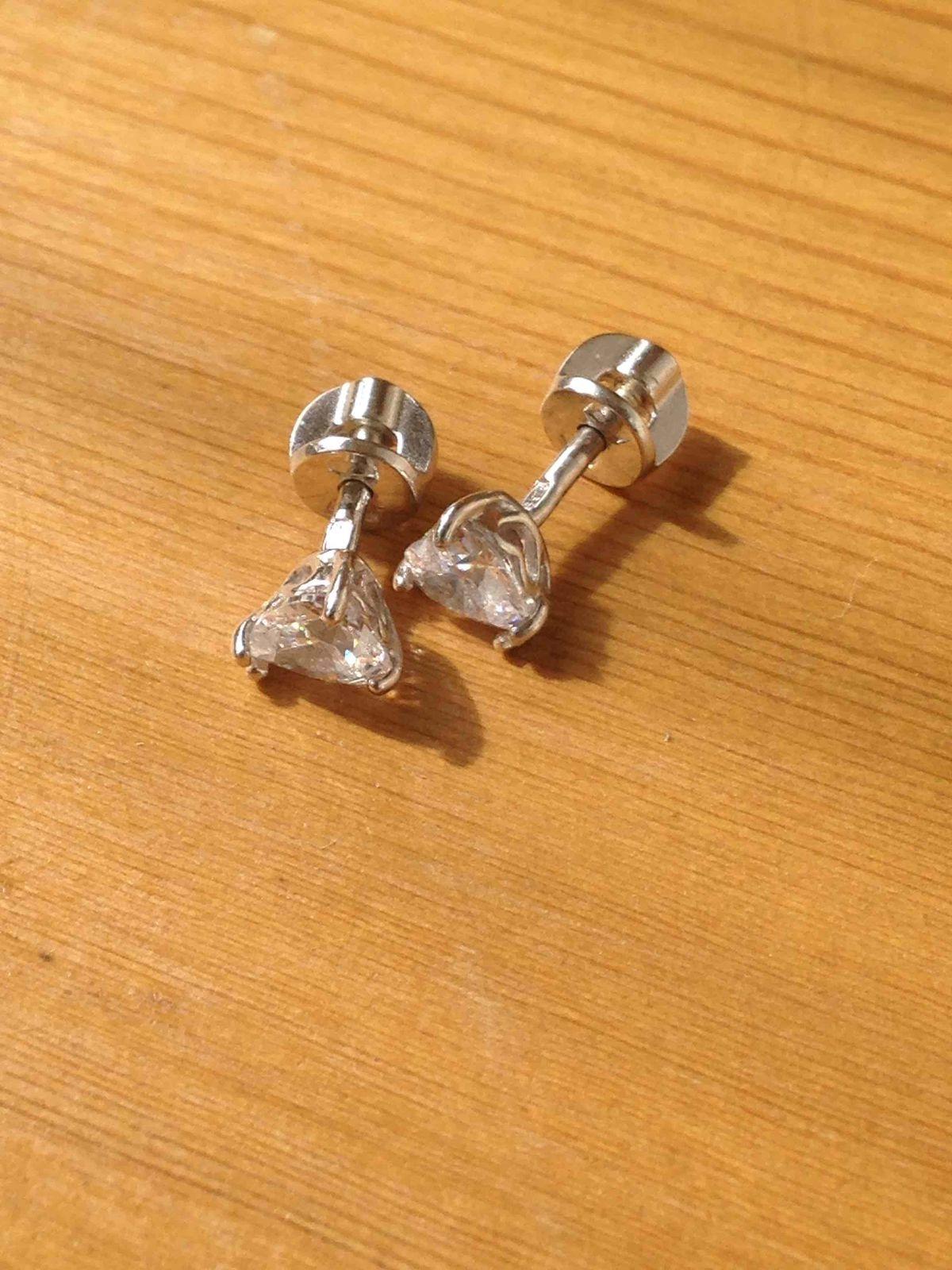 Серьги пусеты из серебра