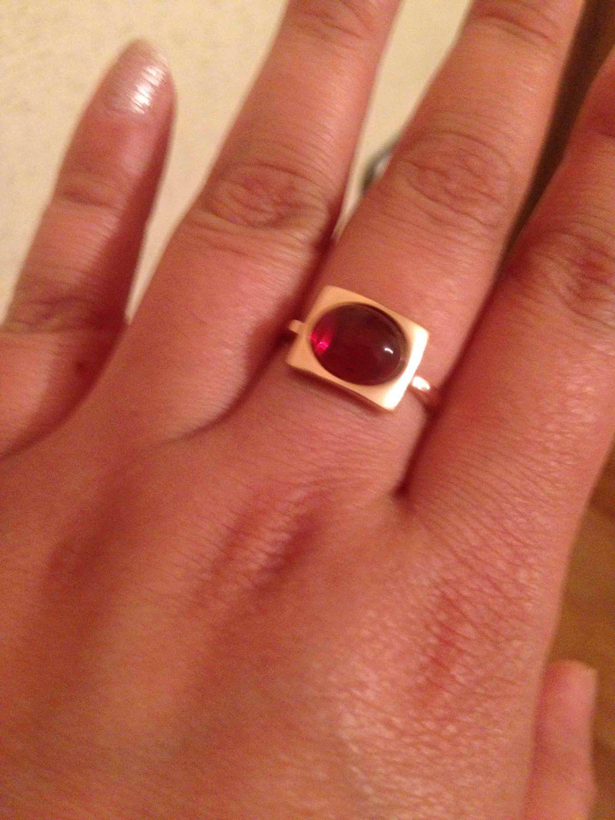 Купила себе кольцо.