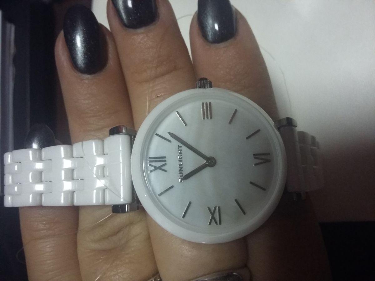 Часы керамические белые