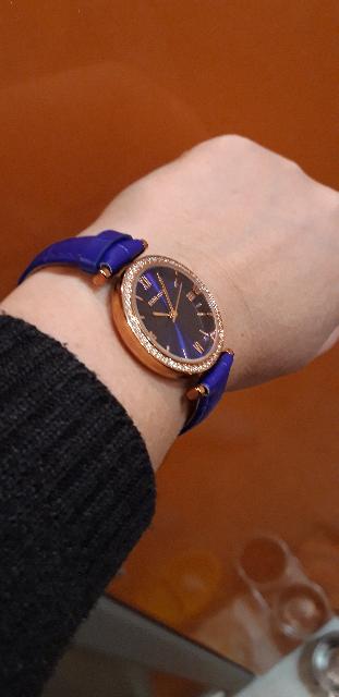 Часы женские, синий цвет!