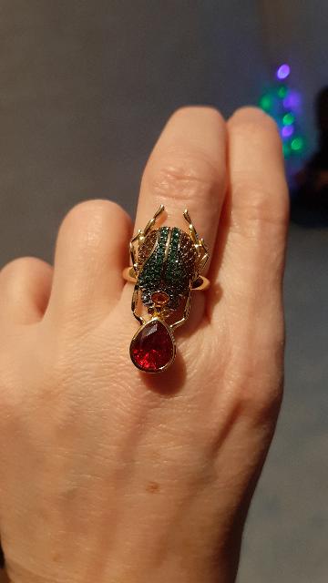Кольцо скарабей