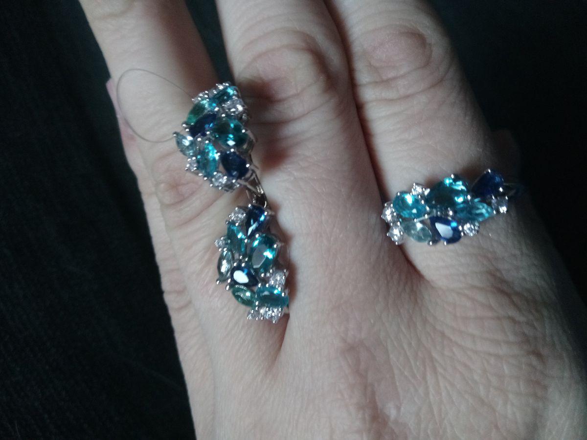Серебряное кольцо с алпанитом и топазом.