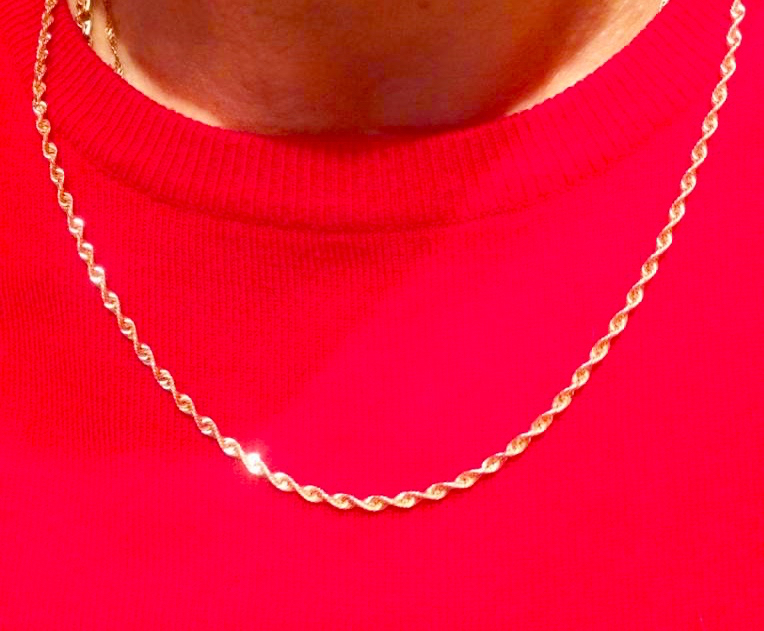 Золотая цепь из розового золота