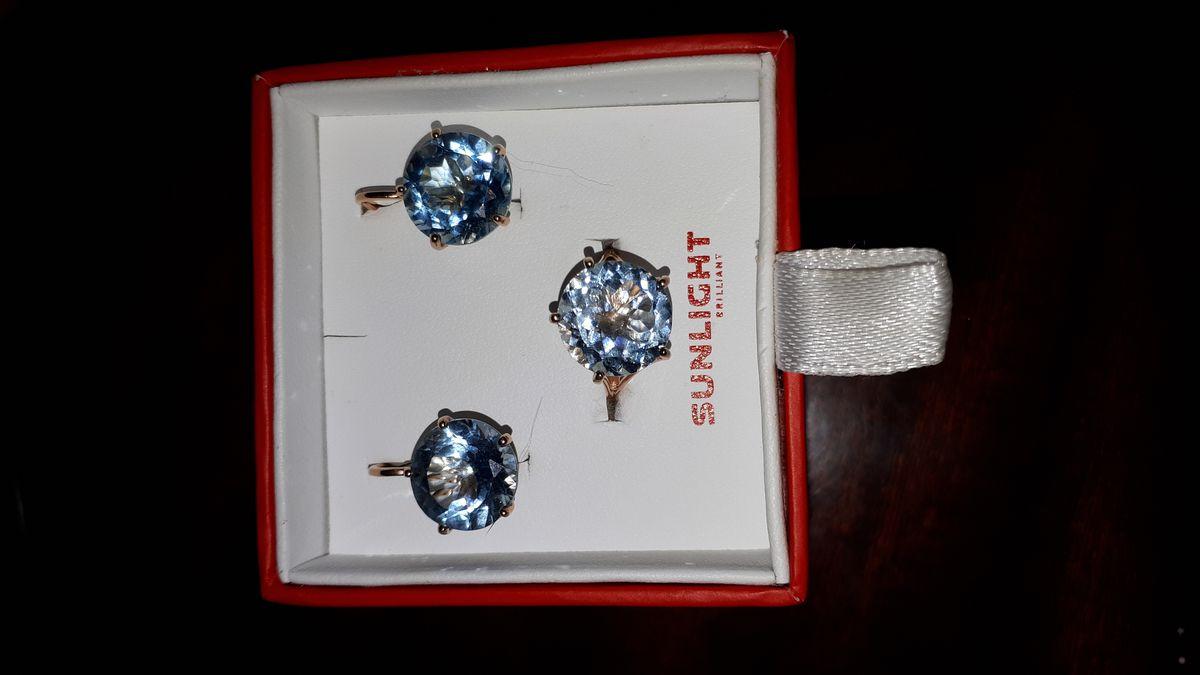 Серьги и кольцо в комплекте