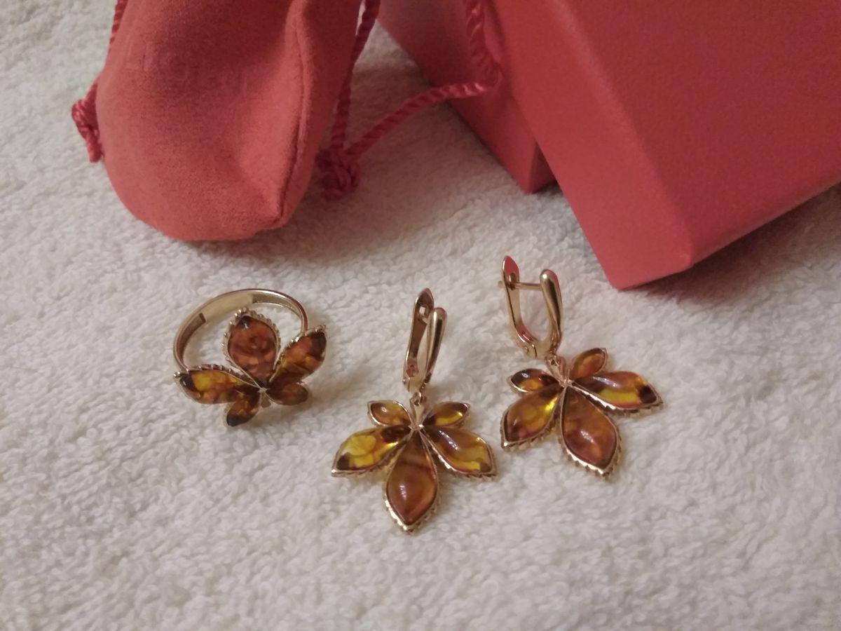 Мои драгоценные листочки с янтарем.