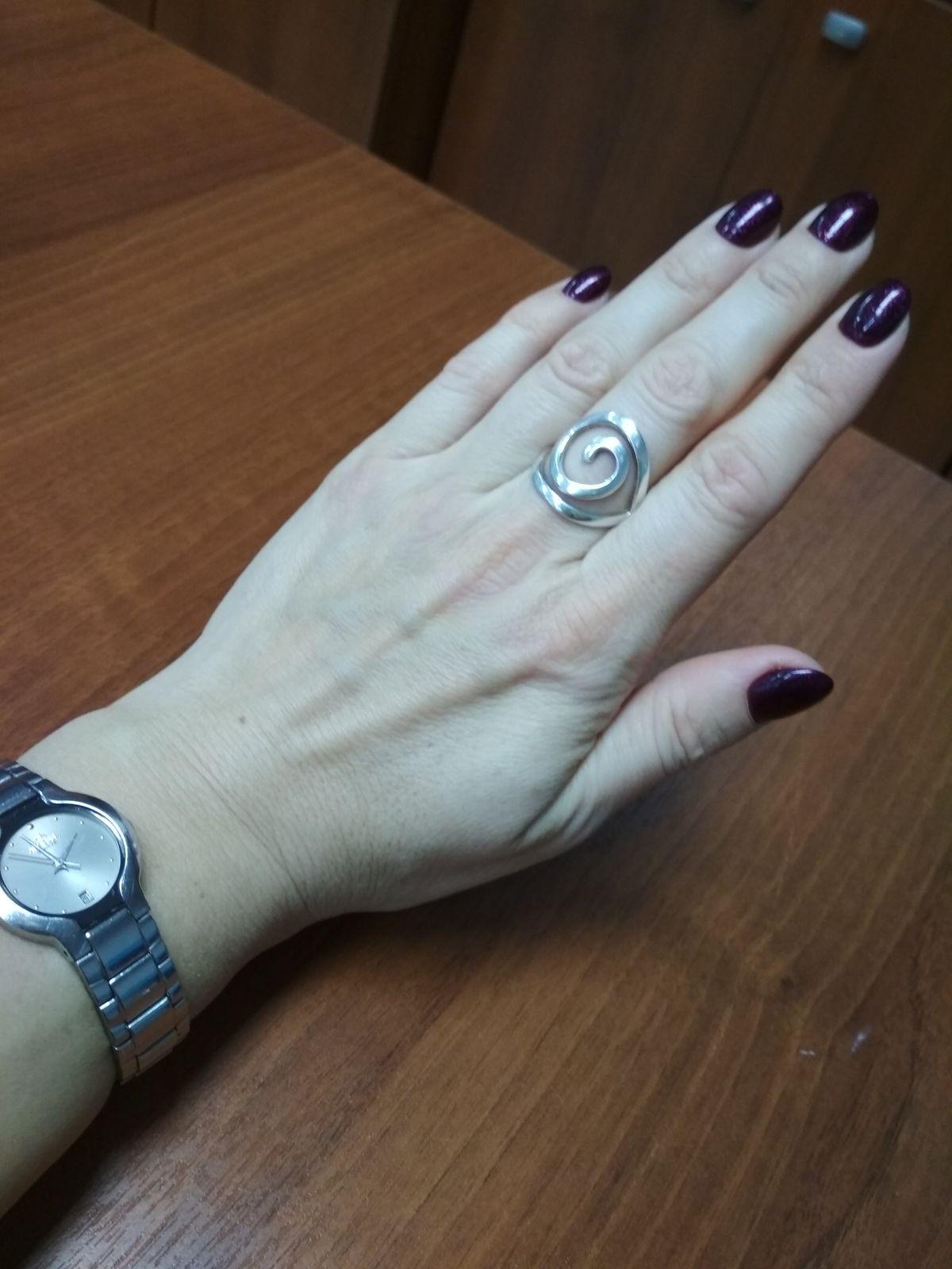 Серебряное этно кольцо