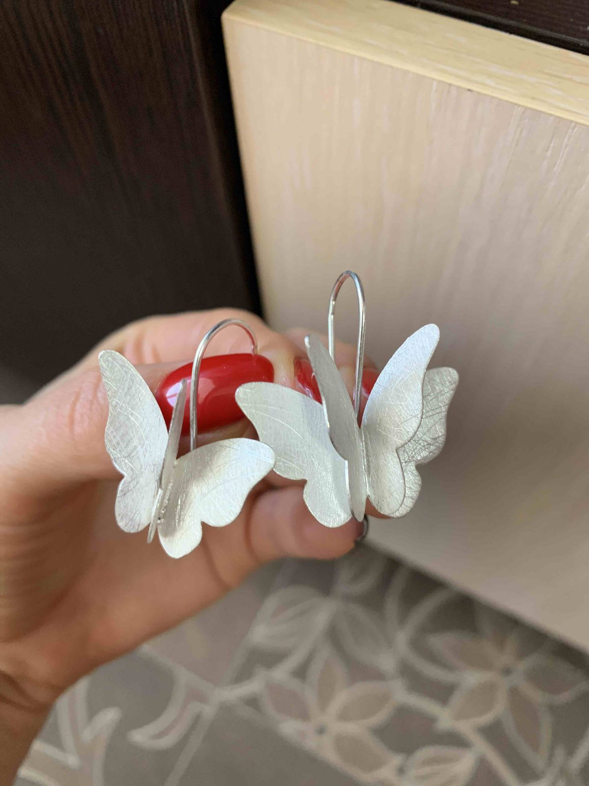 Сережки «бабочки»