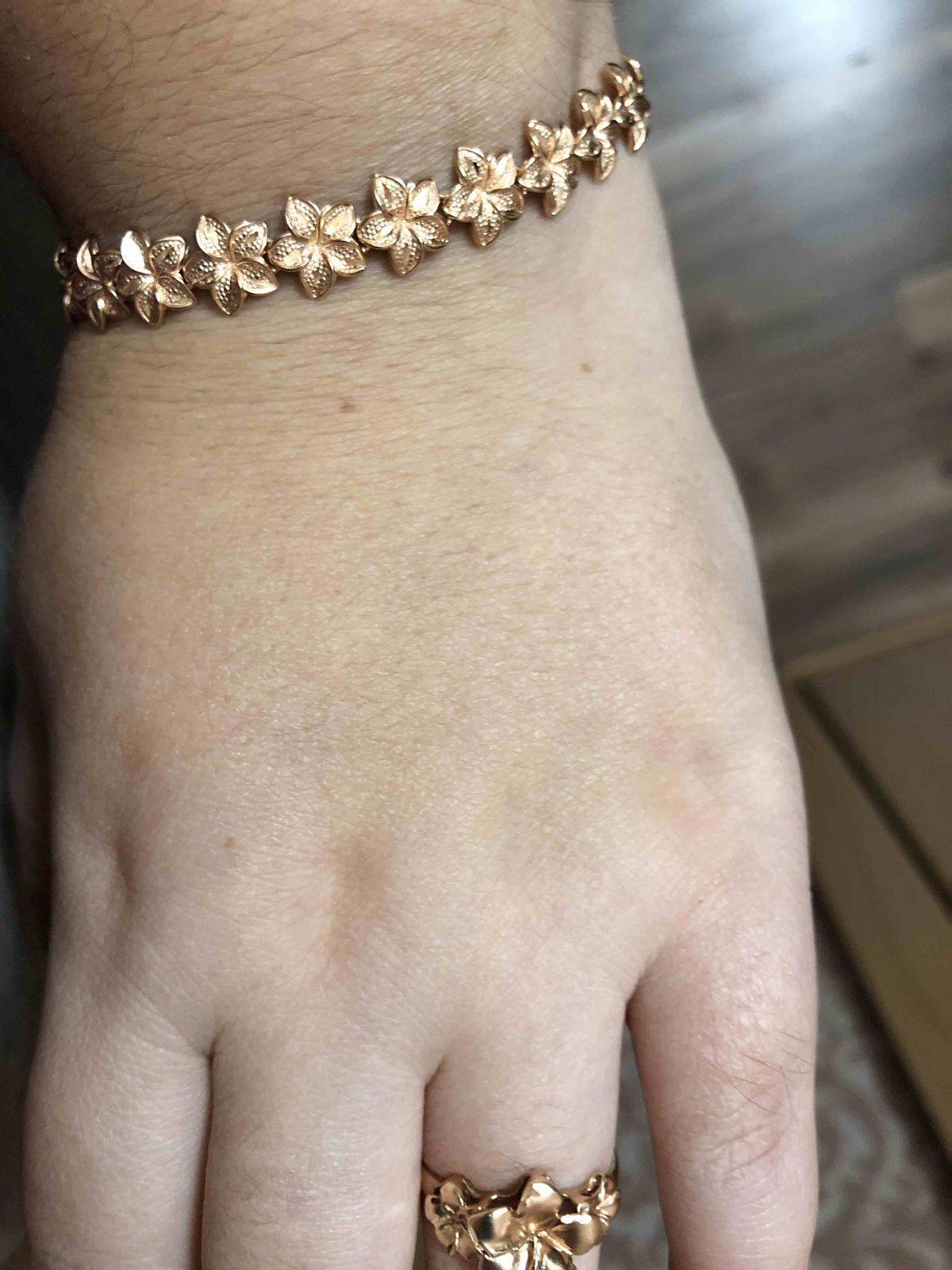 Золотой браслет из серии Золотое сияние