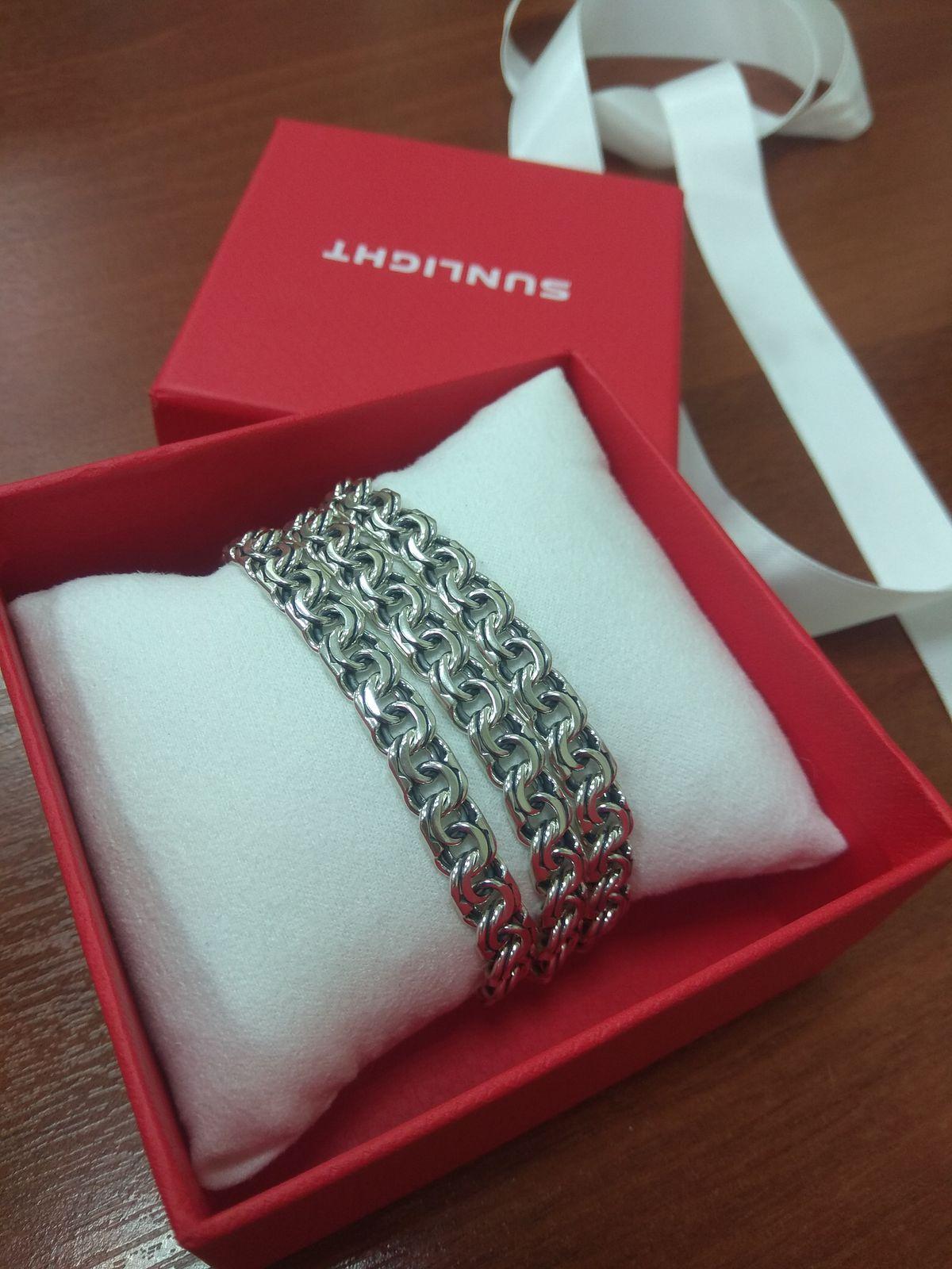 Серебряная цепь в подарок