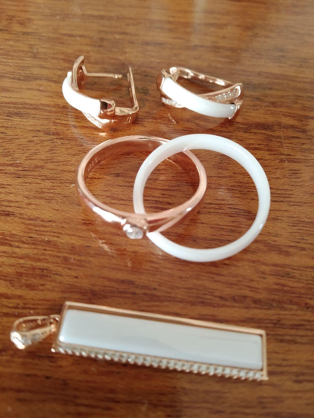 Кольцо, серебро ,позолота, керамика.
