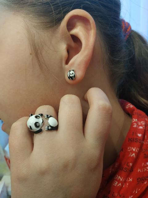 "Кольцо "" панда"""