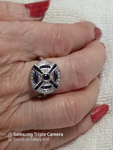 Серебряное кольцо,шпинель