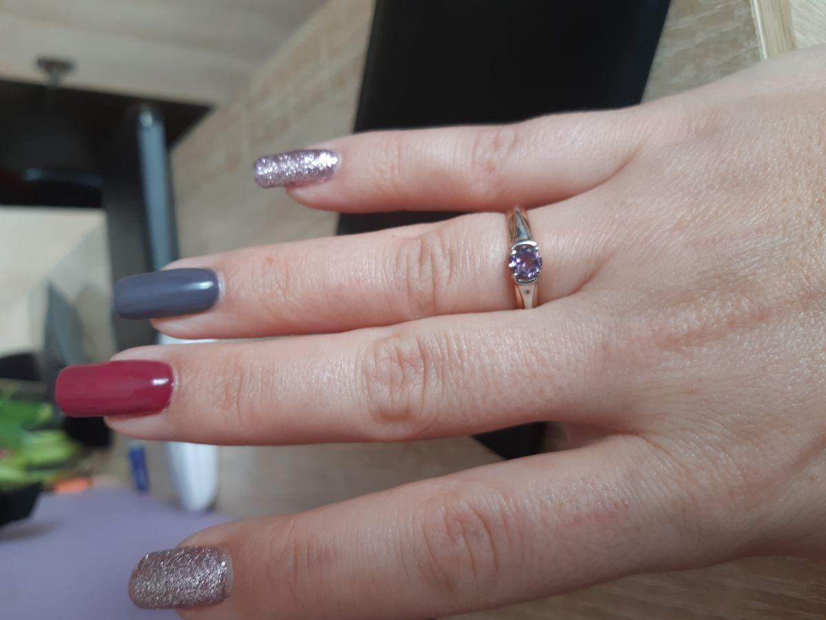 Первое кольцо с аметистом