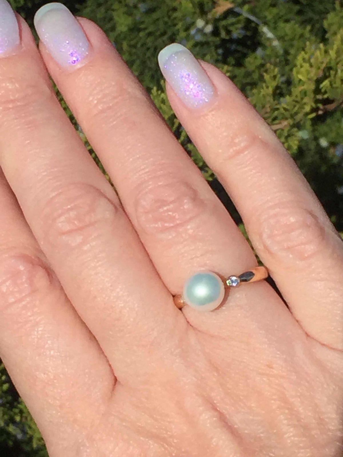 Золотое кольцо вс жемчугом