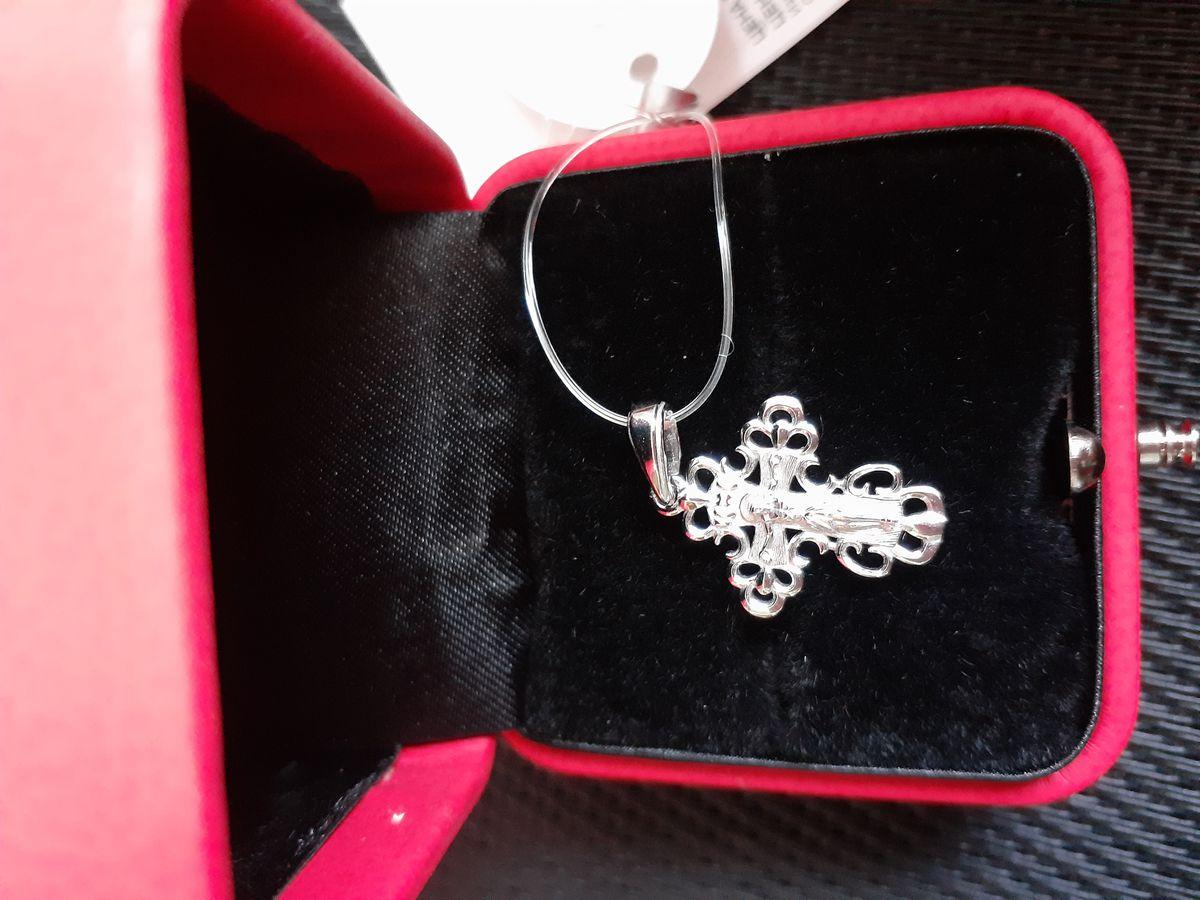 Серебряная подвеска-крестик